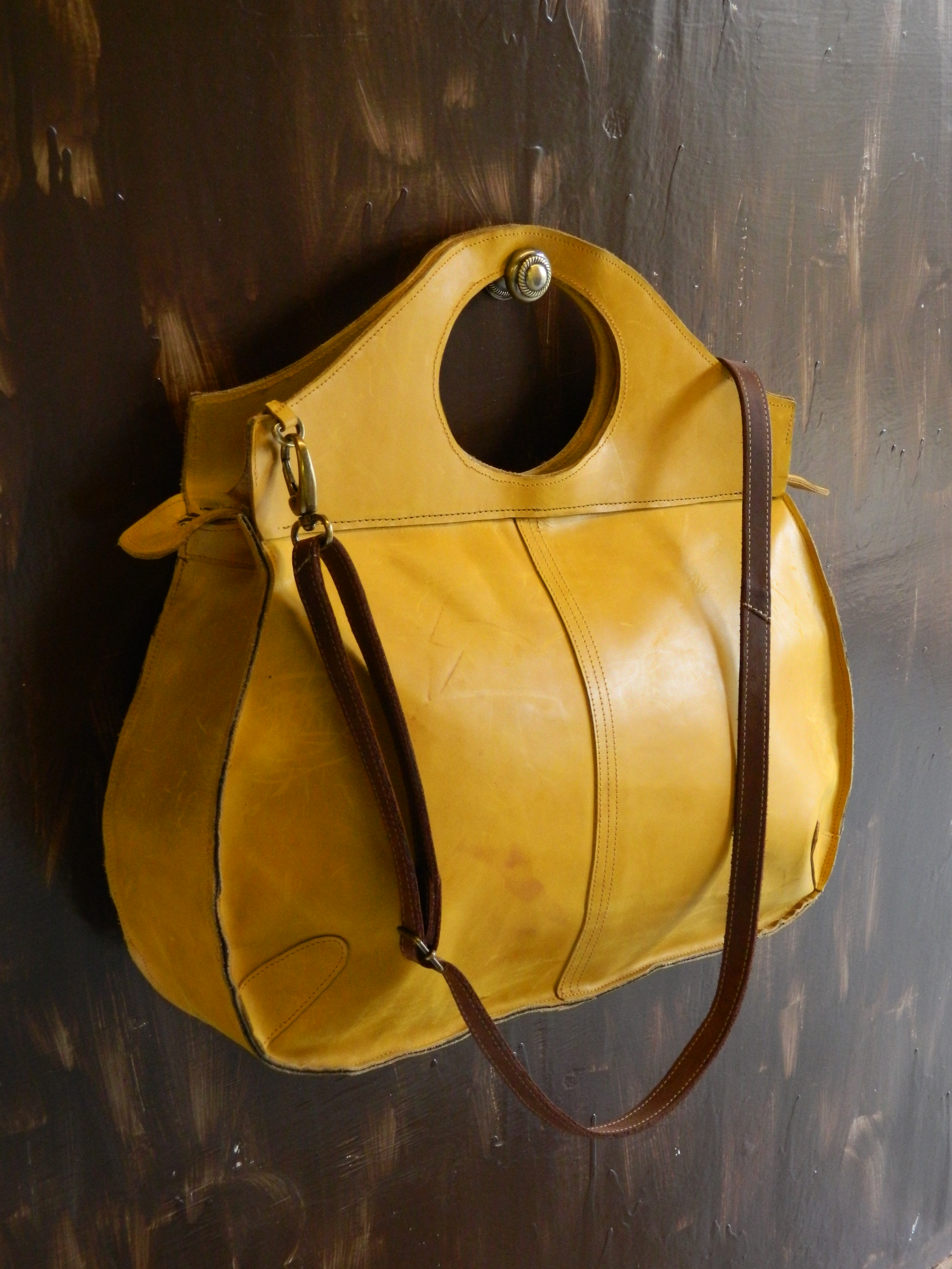 Mustard Yellow Leather Handbag Handbags 2018