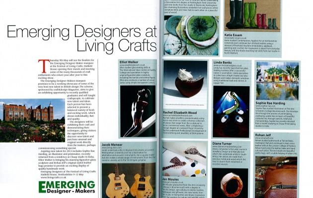 Featured in Craft & Design Magazine 'April 2013